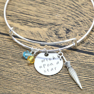 Pinocchio Themed Wish Upon A Star Quote Charms Necklace Gift Bag