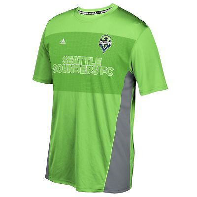 adidas Mens Gents Football Seattle Sounders Performance T-Shirt Tee Top - Green