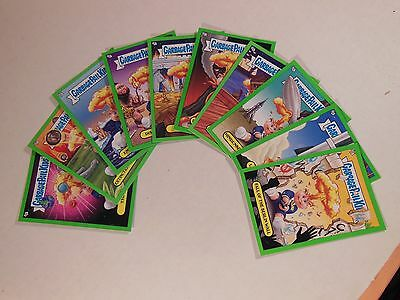 GPK GARBAGE PAIL KIDS 2012 BNS -1 ADAM BOMB THROUGH HISTORY green 10 CARD SET