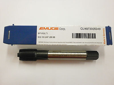 EMUGE 5/8-18 Spiral Point MULTI-TAP 2B/3B High Performance Germany CU4973005049