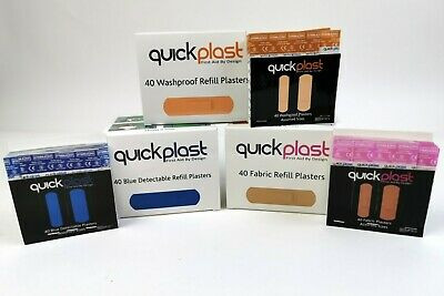 Box (6 x 40) Quickplast Pilfer Proof Plasters to Fit Wall Mountable Dispenser.