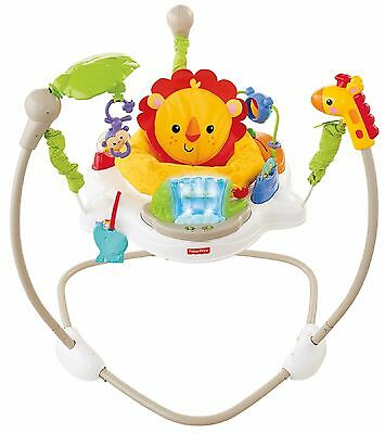 FISHER PRICE JUMPEROO RAINFOREST FRIENDS Music Lights  Fun Play Baby Toddler Fun