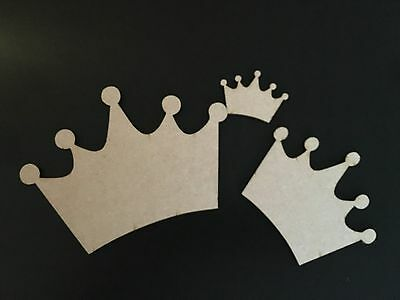 Wooden MDF Crown Blank Plaque Embellishments Craft Decoupage Laser Cut 5 sizes