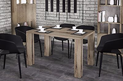 esstisch k chentisch ausziehbar 130cm kiefer vintage eiche ancona neu 68128 eur 169 00. Black Bedroom Furniture Sets. Home Design Ideas