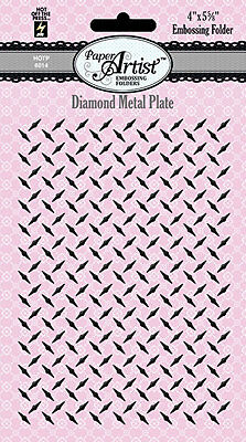 "Hot Off The Press Diamond Metal Plate Embossing Folder A2 4 1/8""x5 7/8"""
