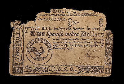 South Carolina Colonial Currency - December 23, 1776 -$2
