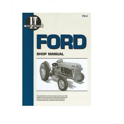 It Shop Service Manual Paperback Book (English) For Ford Series 2n 8n 9n