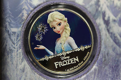 Disney Frozen Elsa Magic Of The Northern Lights 1 Oz. Silver Coin Niue 10,000