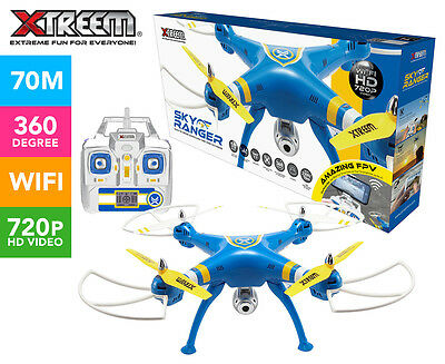 Xtreem Sky Ranger Quadcopter 720p WiFi Camera Drone - Yellow/Blue