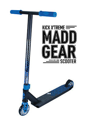 2017 Complete Madd Gear  Mgp Kick Extreme Scooter Blue/black