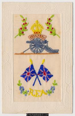 WWI Embroidered Silk, Royal Field Artillery