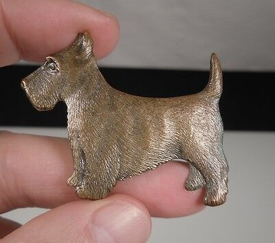 Vintage Scottie Dog Pin Brooch  46721