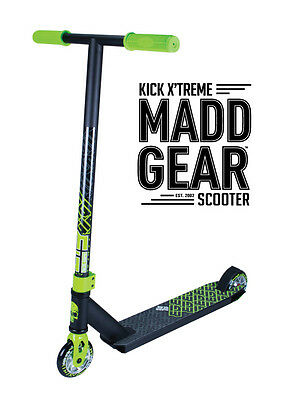 2017 Complete Madd Gear  Mgp Kick Extreme Scooter Green/black