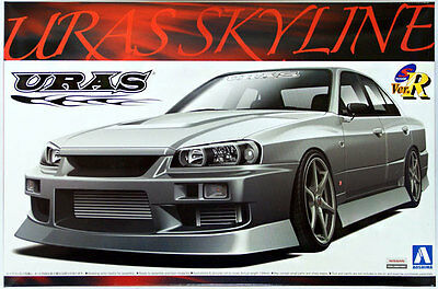 1/24 AOSHIMA 000020 NISSAN URAS R34 SKYLINE Plastic Model Car Kit