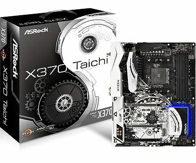 Asrock X370 Taichi AMD Ryzen Socket AM4 ATX Motherboard M.2 RGB LED WiFi BT SLI