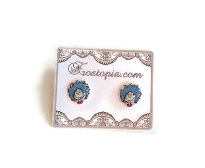 Dr. Seuss The Cat in the Hat Thing 1 & 2 Resin Stud Post Earrings