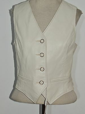 Vintage 1970's Tan Leather Vest SM