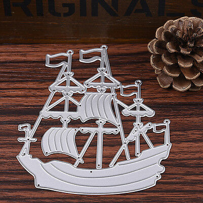 Sailboat Metal Cutting Dies Stencils Scrapbook Card Album Paper Embossing Craft