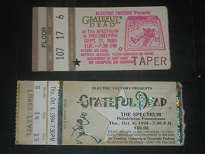 Grateful Dead 1990/1994 Ticket Stubs***philadelphia Spectrum**9/11/90-10/6/94***