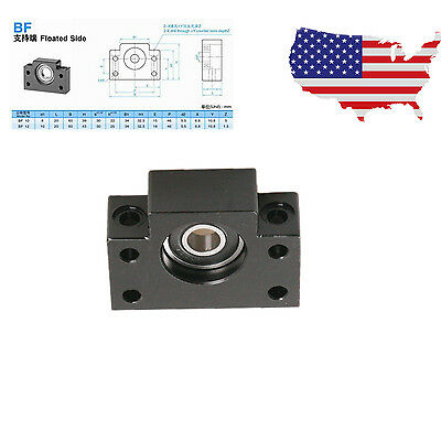 Black BF12 Ball Screw  End Support Bearing Block Mount for CNC Mill
