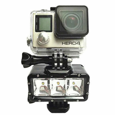 Waterproof Dimmable LED POV Flash Fill Night Light for GoPro Hero 6 5 4 Black