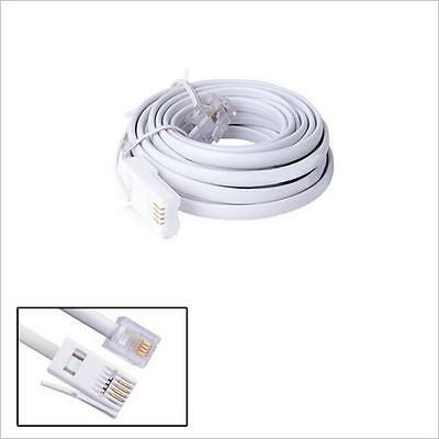 3m RJ11 Male to Male UK BT to USA type 6P4C Telephone Phone ADSL Modem Cable