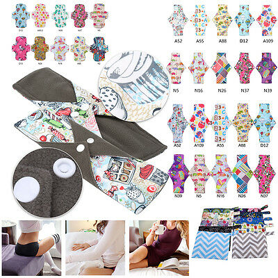 Cute Reusable Washable Bamboo Menstrual Sanitary Pads Mama  Pads Liner M/L DH84
