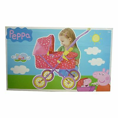 Peppa Pig Toy Dolls Mini Pram Heart & Peppa Design Buggy Stroller NEW BOXED