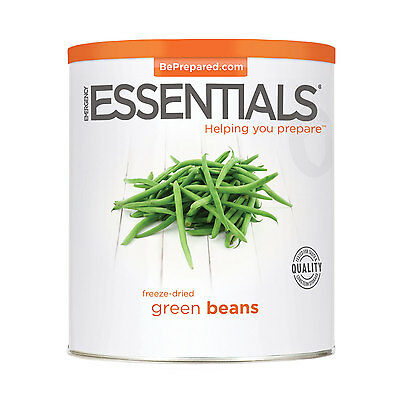 Freeze Dried Beans, Green can Survival Food