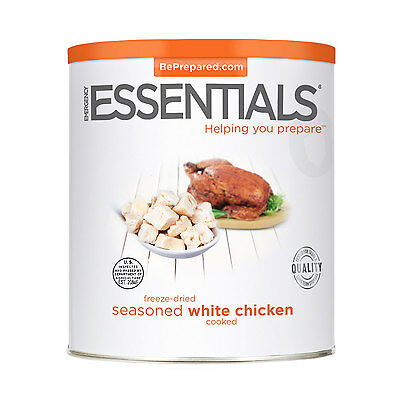 Freeze Dried Chicken Cooked, White can Survival Food