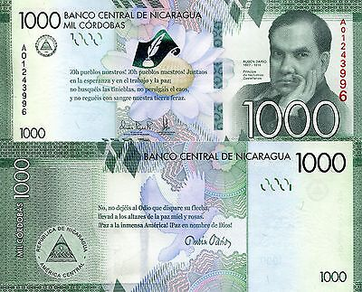 NICARAGUA 1000 Cordobas Banknote World Paper Money UNC Currency Pick p-New 2016