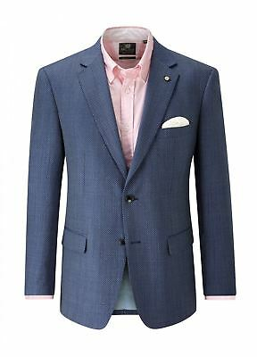 SKOPES Wool Blend Textured Sports Jacket(Paco)in Blue,Chest 44-62 Inches, S/R/L