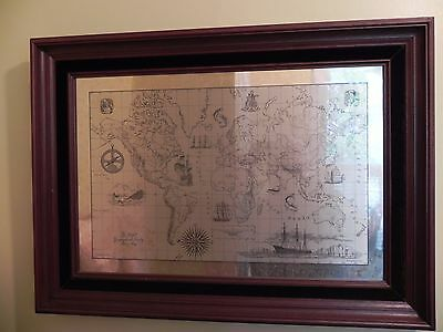 Franklin Mint Royal Geographical Society Silver Map Limited Edition 1976