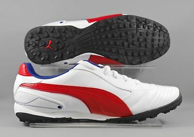 PUMA Astro Turf V6 TT Mens Football Trainers White Red Soccer Boots UK 6-10 NEW