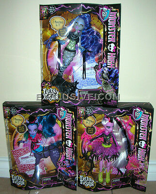 Monster High Freaky Fusions Hybirds Lot Avea Trotter Sirena Von Boo Bonita Femur