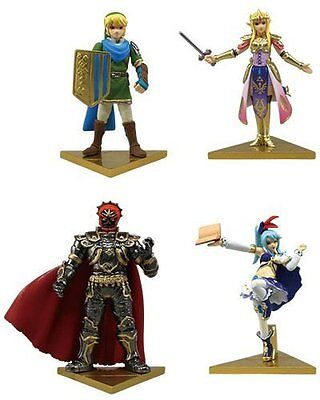 Gashapon The Legend of Zelda Hyrule Warriors Stand Figure Complete Set (of 4)