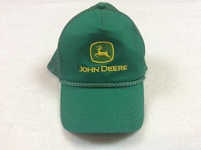 John Deere Hat - Green & Yellow Adjustable Snapback Mesh Trucker Cap Embroidered