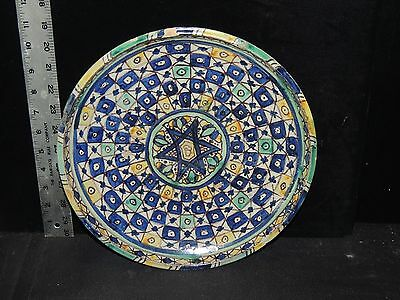 Antique Estate Vintage Islamic Hand Painted Ceramic Plate Charger