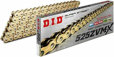 DID 525 ZVMX x-ring x ring chain 124 links gold