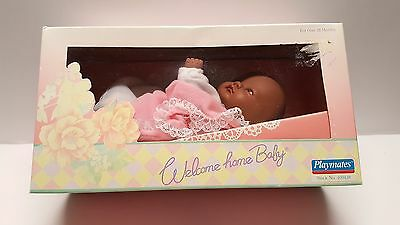 Vintage Playmates Welcome Home Baby doll orig box african american