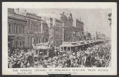 Official Opening of Adelaide's Electric Tram System 1909