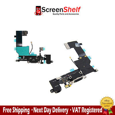 New iPhone 5S Charge Port Connector Headphone Flex Cable Dock - All Colours