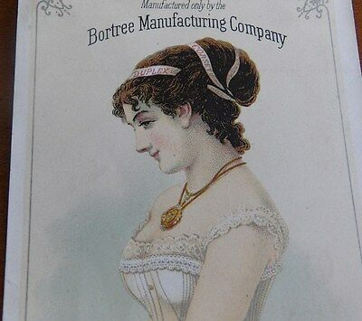 Victorian Bortree Manufacturing Trade Card for the Duplex Corset