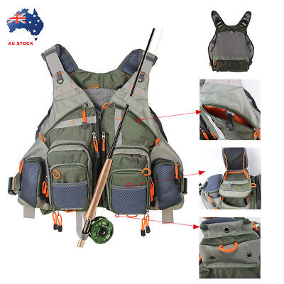 Fly Fishing General Size Mesh Vest Adjustable Mutil-Pockets Outdoor Vest