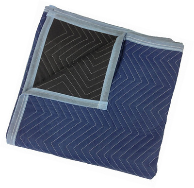 "Pro Moving Blankets (12-Pack) - Size: 72"" x 80"" - Color: Blue & Black - by Cheap"