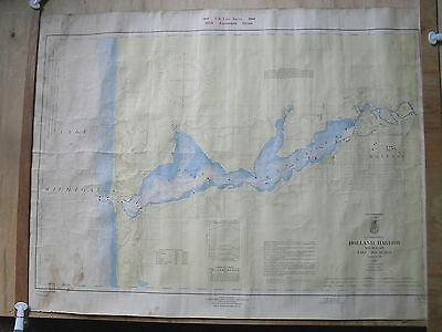 125th ANNIVERSARY 1966 EDITION NAUTICAL MAP OF HOLLAND HARBOR & LAKE MACATAWA