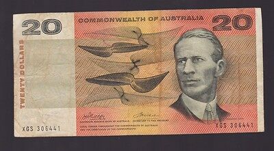 $20 Paper Banknote Commonwealth of Australia Phillips Wheeler XGS Series L-275