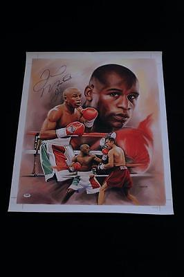 Floyd Mayweather Jr Signed Autographed Gilcee Canvas Psa/dna #ac07282 Boxing