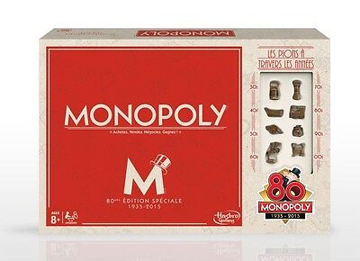 NEW Monopoly 80th Anniversary Edition US Version from Mr Toys
