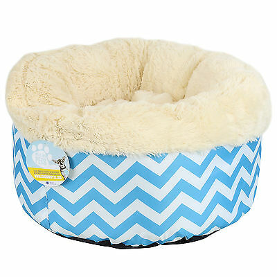 Me & My Super Soft Round Blue Donut Pet Bed Cat/kitten/dog/puppy Warm/snug/cosy